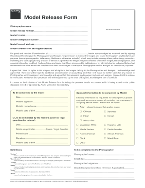 Model Release Form | Fillable Online Model Release Form Pdf Alamy Fax Email Print