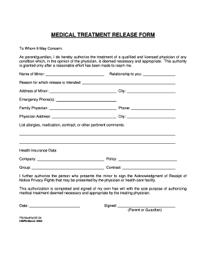 Fillable Online stperpetuaparish Emergency medical treatment ...