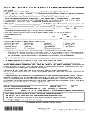 Bill Of Sale Form Florida Authorization To Disclose Health ...