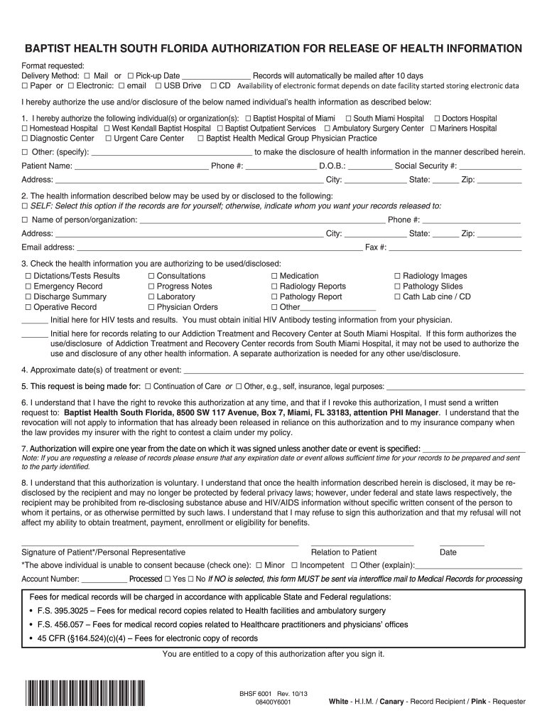2013 Form Bhsf 6001 Fill Online Printable Fillable Blank