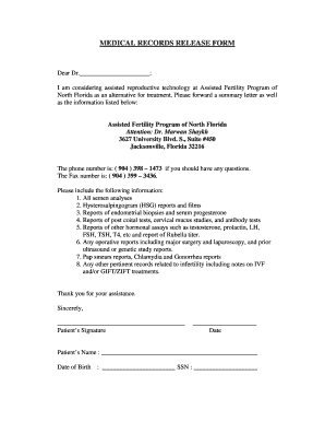 Blank Medical Records Release Form - Fill Online, Printable ...