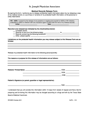 32 printable medical records release form templates fillable