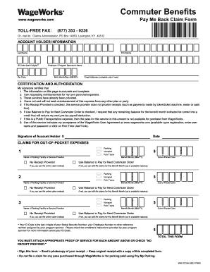 Wageworks Claim Form - Fill Online, Printable, Fillable, Blank ...