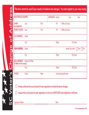 Bill Of Sale Form South Carolina Voter Registration Form Templates ...
