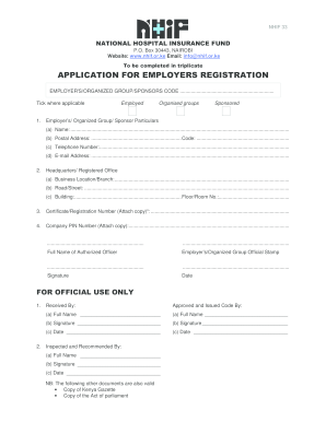 nhif registration form