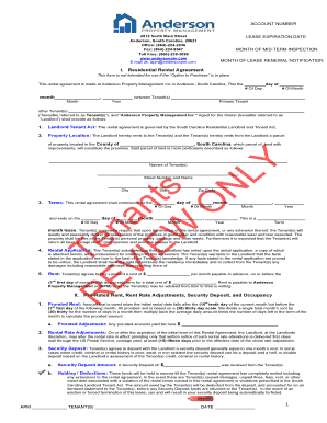 Lease Rental Agreement - Anderson Property Management