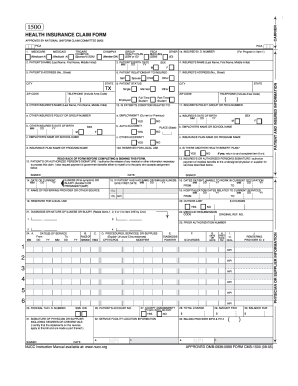 Fillable online approved omb 0938 0999 form cms 1500 08 05 fill online thecheapjerseys Images