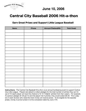 Our annual hit-a-thon fundraiser is next. Three oaks baseball.