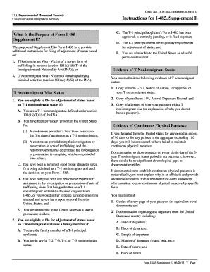 form i 485 supplement a  Fillable Online uscis Form I-10 Supplement E - USCIS ...