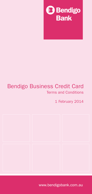 Fillable online bendigo business credit card terms conditions fill online reheart Images
