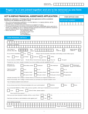 Onlineapplication Form Of Uct - Fill Online, Printable ...