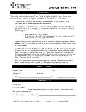 referral document template - pics for employee referral bonus form