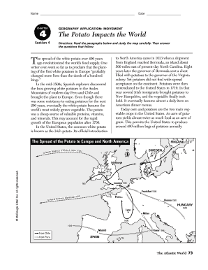 The Potato Impacts The World Worksheet Answers Fill Online Blue Planet Ocean World Worksheet The Potato Impacts The World Worksheet Answers Fill Online, Printable, Fillable, Blank Pdffiller