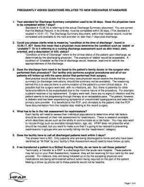 Discharge Summary Documentation
