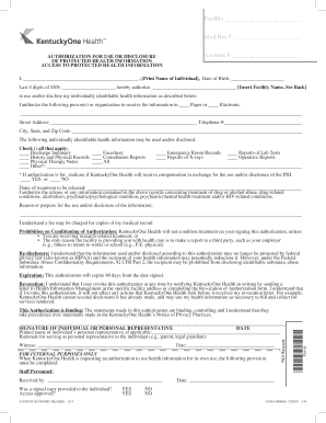 Medical Records Request - KentuckyOne Health