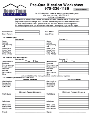 Printables Mortgage Pre Qualification Worksheet collection of mortgage pre qualification worksheet bloggakuten fillable online 970 336 1185 fax email