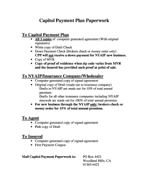 capitol payment plan Capitol Payment Plan Down Payment - Fill Online, Printable, Fillable ...
