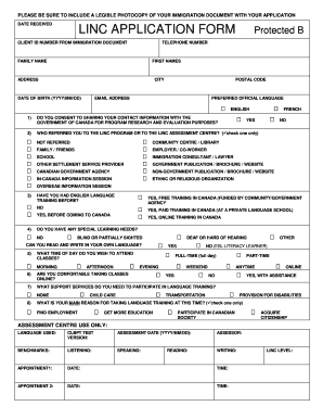 linc 7 application form