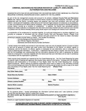 Background Check Authorization Form 140 2doc