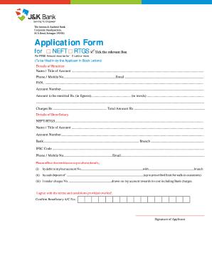 jk bank online application forms