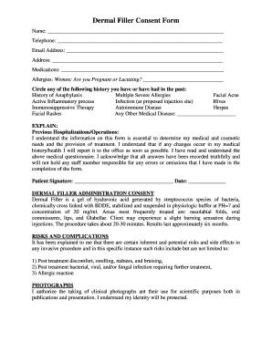 Dermal Filler Consent Form - Fill Online, Printable