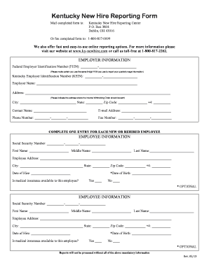 Employee Hire Form Cprc