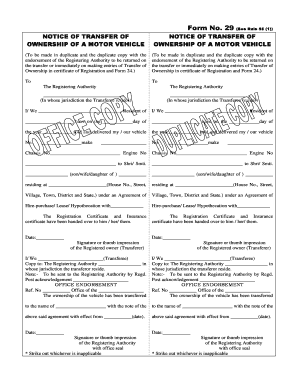 vehicle/vessel transfer and reassignment form Templates - Fillable ...