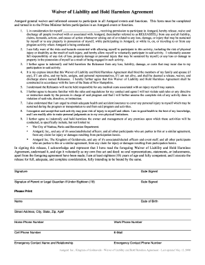 18 Printable Hold Harmless Agreement Real Estate Forms And Templates
