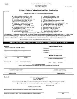 2014 form nc mvr 33a fill online, printable, fillable