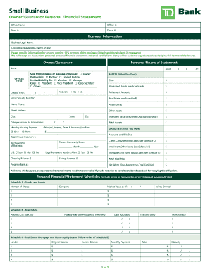 fake bank statement template Td Bank Statement Template - Fill Online, Printable, Fillable, Blank ...