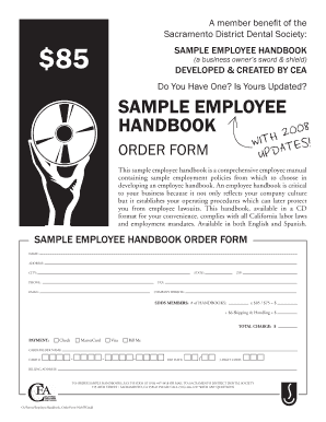 dental office manual template - free sample employee handbook template forms fillable