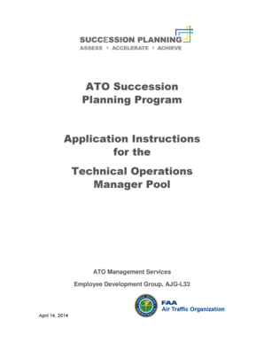 ATO Succession Planning Program Application Instructions for the ... - faama