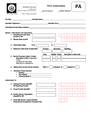 Fillable Online mainecare maine Initial Authorization Request Form ...