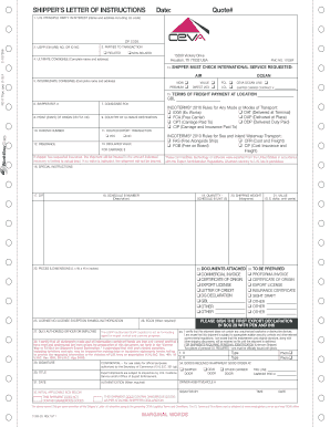 Ceva Logistics Sli - Fill Online, Printable, Fillable ...