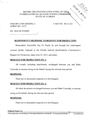 Request To Produce Florida Form - Fill Online, Printable, Fillable ...