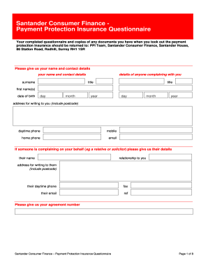 Ppi request form santander fill online printable fillable blank ppi request form santander solutioingenieria Choice Image