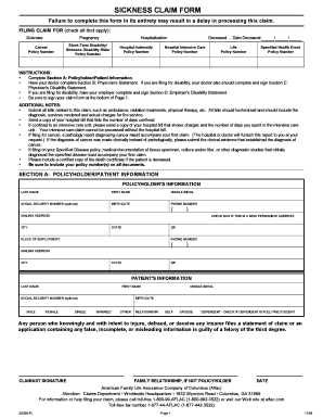 Fillable Online AFLAC Sickness Claim Form - Haines City Fax Email ...