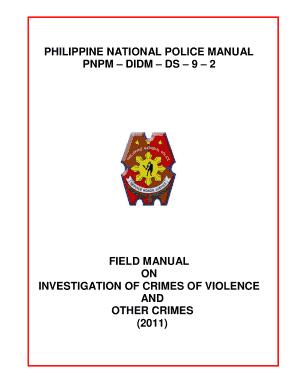 pnp investigation manual fill online printable fillable blank rh pdffiller com criminal investigation manual 2010 criminal defense investigation manual