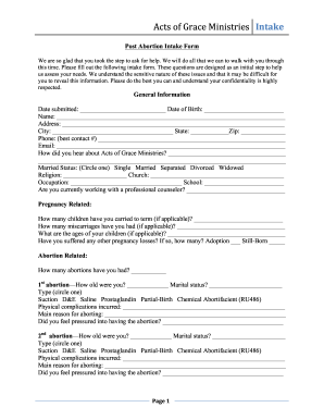 Application Form For Abortion - Fill Online, Printable, Fillable ...