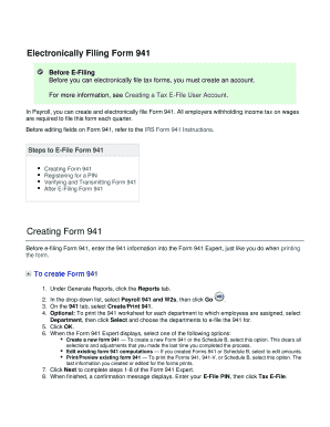 File Form 941 Electronically - Fill Online, Printable, Fillable ...