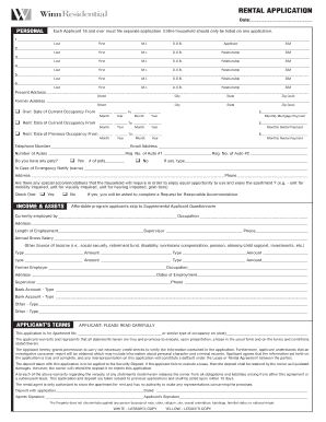 Rental Application Florida Forms And Templates Fillable