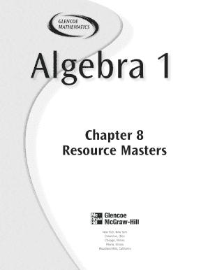 Pre Algebra Chap 4 Resource Masters Glencoe Mathematics