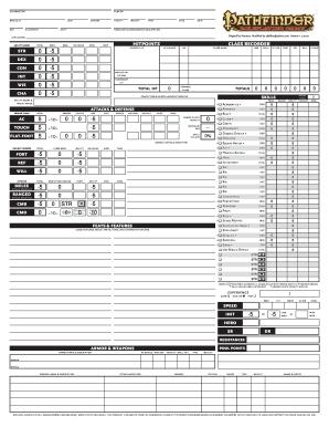 Fillable Online Neceros Pathfinder RPG Character Sheet Visit ...