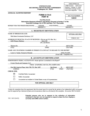 FORM X-17A-5 PART III - Balance Sheet Solutions, LLC - balancesheetsolutions
