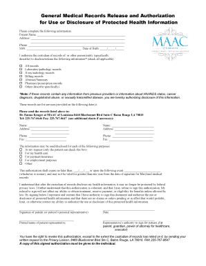 medical records release authorization