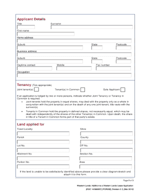 Product : Form content Form Type - Land