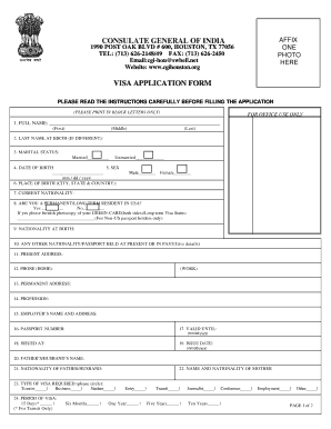 Fillable Online India Diplomatic Visa Application Form At Indian Immihelp Fax Email Print Pdffiller