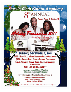 8th Annual Holiday Tournament Flyer