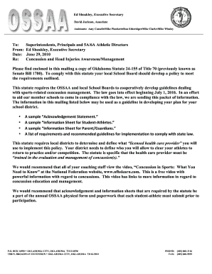 Ossaa Concussion Form - Fill Online, Printable, Fillable, Blank ...