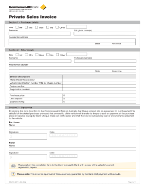 how to use a combank private invoice form